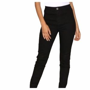 "CONNIE BLACK CLASSIC SKINNY ""JEGGING"" PANTS"